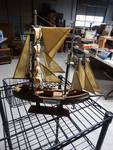Wooden model sail boat
