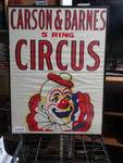 Carson & Barnes 5 Ring Circus - Vintage framed poster. 21