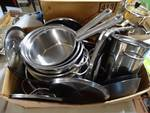 Large Lot of pots, pans, lids