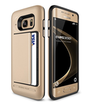 Galaxy S7 Edge Case, VRS Design [Damda Clip][Champagne Gold AND Rose Gold] - [Wallet Card Slot][Military Grade Protection] For Samsung S7 Edge - 2 cases