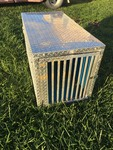ALUMINUM DIAMOND TREAD DOG KENNEL