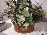 Brass floral display pot  11