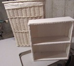 Hanper and shelf wicker