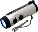 Kaito KA404 Emergency Hand Crank Dynamo 5-LED Flashlight with AM/FM radio