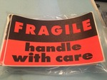 Six packs of 40 bright fragile handle with ca...