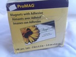 Box of 100 new adhesive magnets great for business cards