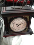Nice wooden mantle clock as pictured