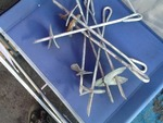 Lot of tiedowns great for tents