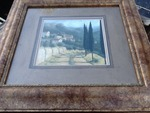 Beautiful 2' x 2' framed and double matted picture of Tuscany countryside