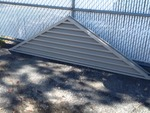 New aluminum house or building eve vent with mesh backing 10 foot long with a 3 foot high in the middle great large  vent