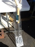 Fancy garden spade chrome forks very neat