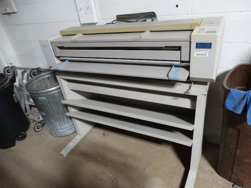 Xerox 2515 blueprint printer with stand wichita auction ict xerox 2515 blueprint printer with stand wichita auction ict warehouse restaurant other equipment auction equip bid malvernweather Choice Image