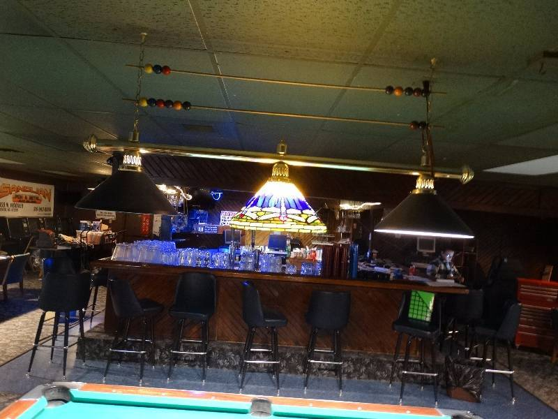 Pool Table Light Shade Is Stained Glass Wichita Rhythm Cues - Pool table seating