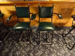 Set of 2 green chair w/arm rest.