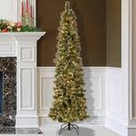 Jacalyn Smith Collection 7 ft. Virginia Cashmere Pencil Pine, pre-lit clear lights