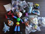 Vintage Toy Lot: Clown, Mickey Mouse Cup. McDonald's Hotwheels, Fozzy, Sponge Bob, Donkey, MORE!!