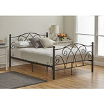 Alcove Black Rod Iron Style King Size Bed Frame