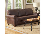 Florence Tri Tone Leather Couch