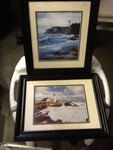 Two very nice framed and double matted lighthouse pictures or just use frames very nice