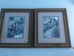 Two small framed and matted Decore pictures