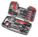 Apollo Tools DT9706 Original 39 Piece General Repair Hand Tool Set with Tool Box Storage Case