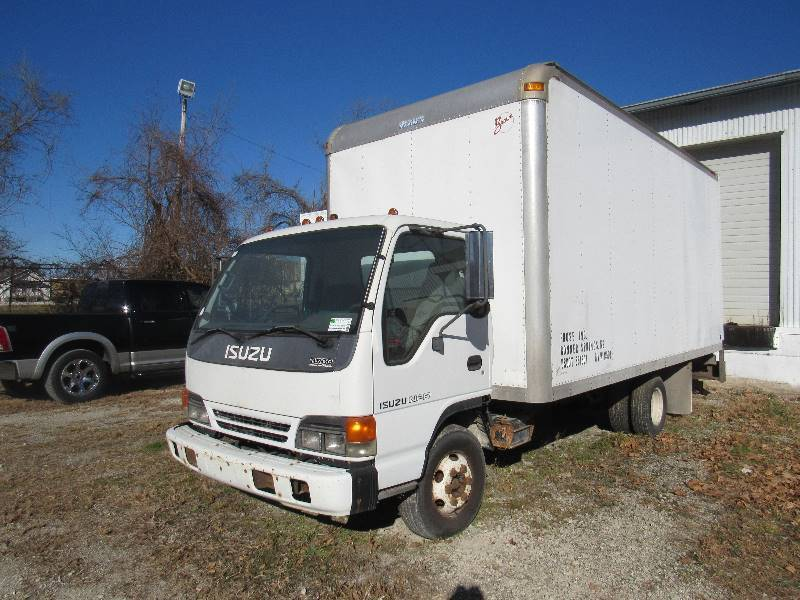 2000 Isuzu NPR 16u0027 Diesel Cab Over Box Truck | Prose Office Furniture  Refurbishing Business Liquidation | Equip Bid