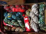 7- Fiesta hand tied yarn 83 yards ea.