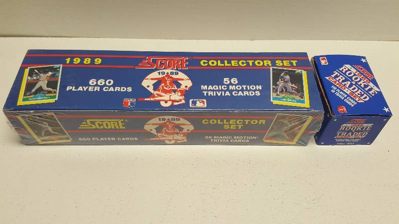 1989 Score Baseball Complete 660 Card Factory Sealed Set W Update