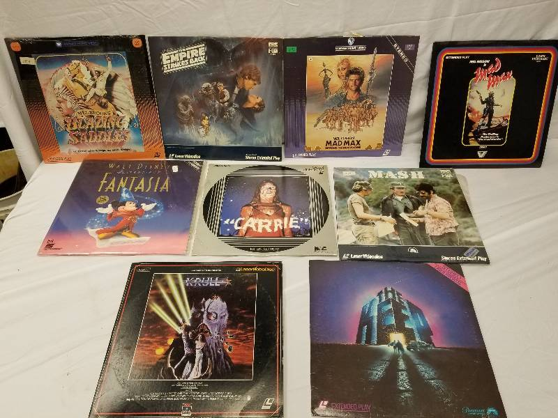 Man Cave Store Belton Mo : 9 lazer disc's fantazia star wars blazing saddles mad max 1 & 2
