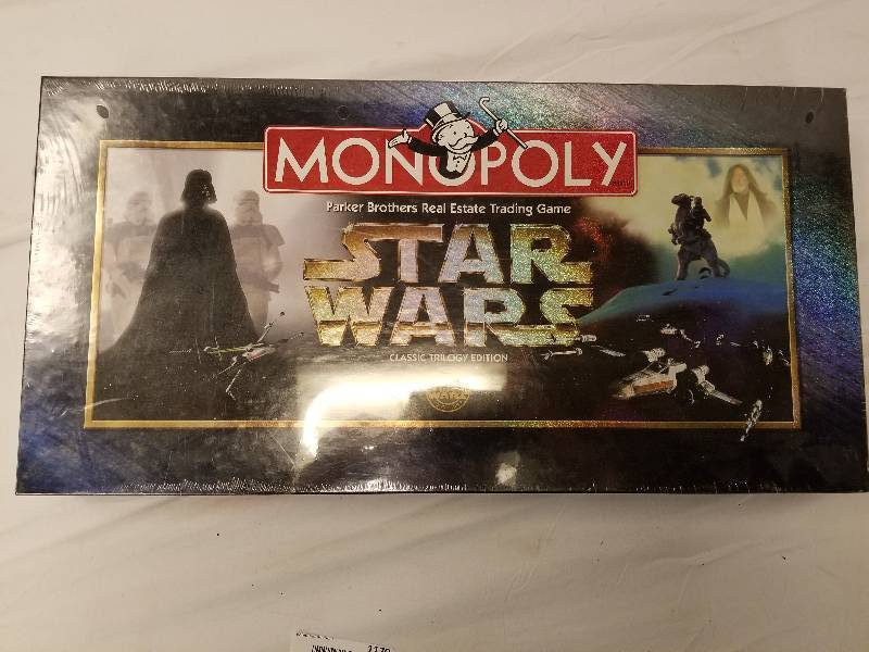 Man Cave Store Belton Mo : Brand new factory sealed star wars monopoly game the man cave