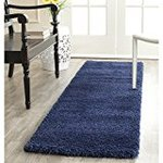 Safavieh Milan Shag Collection SG180-7070 Navy Runner, 2 feet by 8 feet (2' x 8')