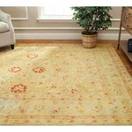 Safavieh AT822B-2 Antiquities Collection Handmade Light Brown and Beige Hand-Spun Wool Area Rug, 2-Feet by 3-Feet