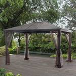 Sunland Park Steel Roof Gazebo with Netting