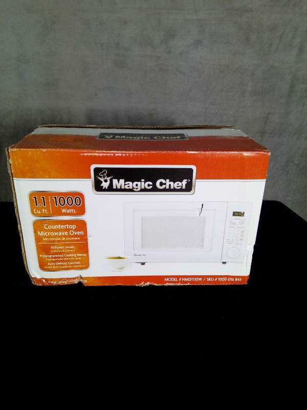 Magic Chef 1 1 Cu Ft Countertop Microwave In White