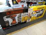 Black and Decker & Stanley combo kit. 80pc includes drill, hammer, pliers etc.