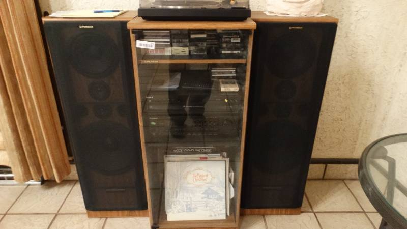 Pioneer Stereo System W/ Cabinet U0026 2 Floor Speakers | South Wichita Estate  Auction! Farm Equipment/Dump Truck/Model T Parade Vehicle/Sheet Metal ...
