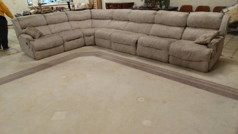 Dual Reclining Sectional Sofa W Hide A