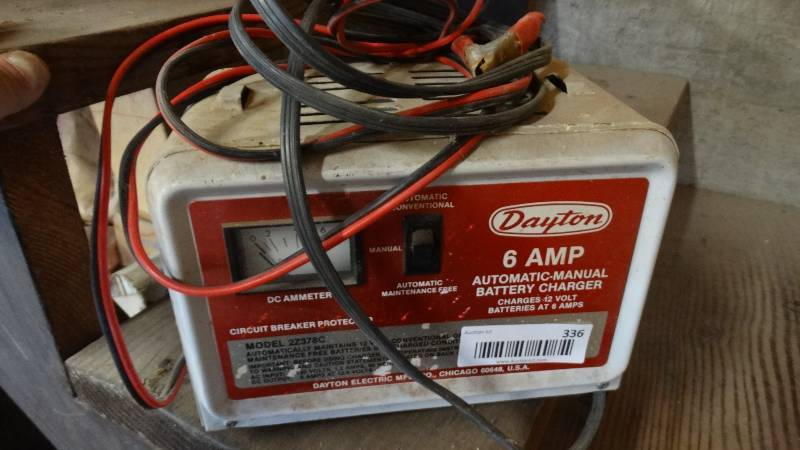 dayton battery charger | south wichita estate auction! farm equipment/dump  truck/model t parade vehicle/sheet metal equipment-more! | equip-bid