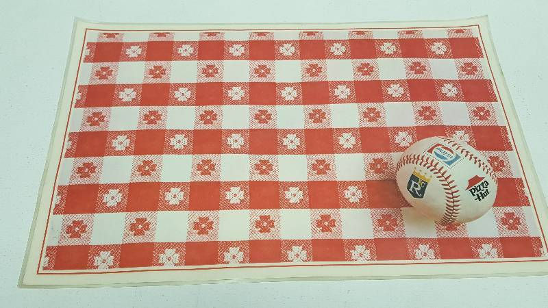 Kansas City Royals 1979 Pizza Hut Place Mat Whitey Herzog