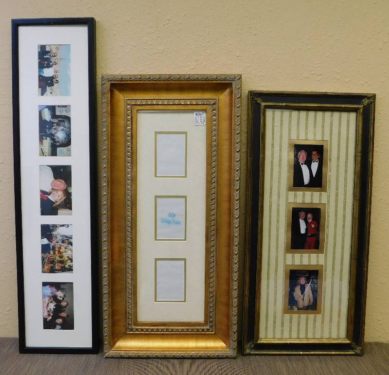3 Photo Collage Frames Lots Of Odds Ends Sale Equip Bid