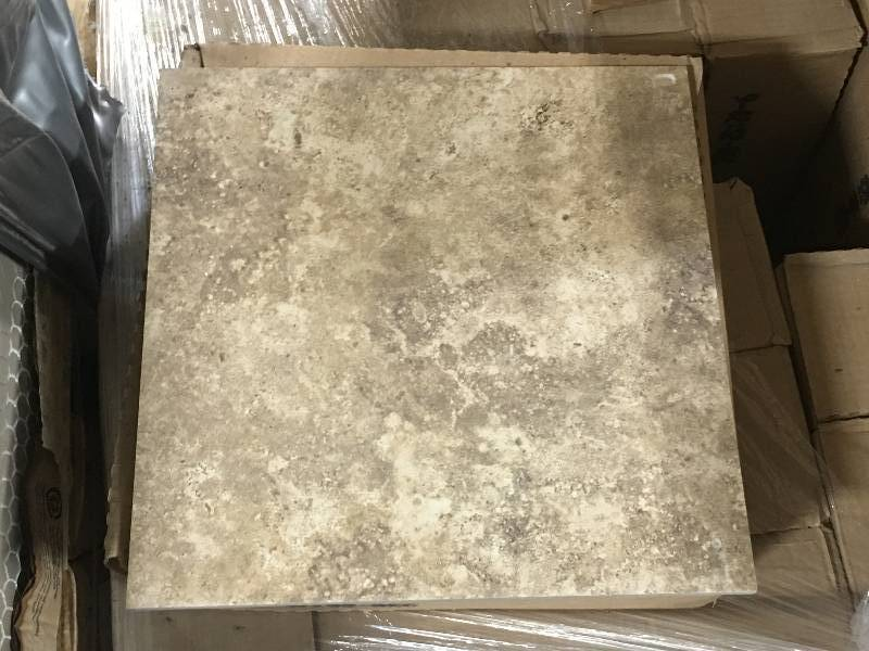 388 Sq Ft Of 13x13 Brown Porcelain Floor Tile Builders Grade