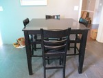 Pub Height Table with Chairs