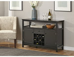 alcove wine storage buffet