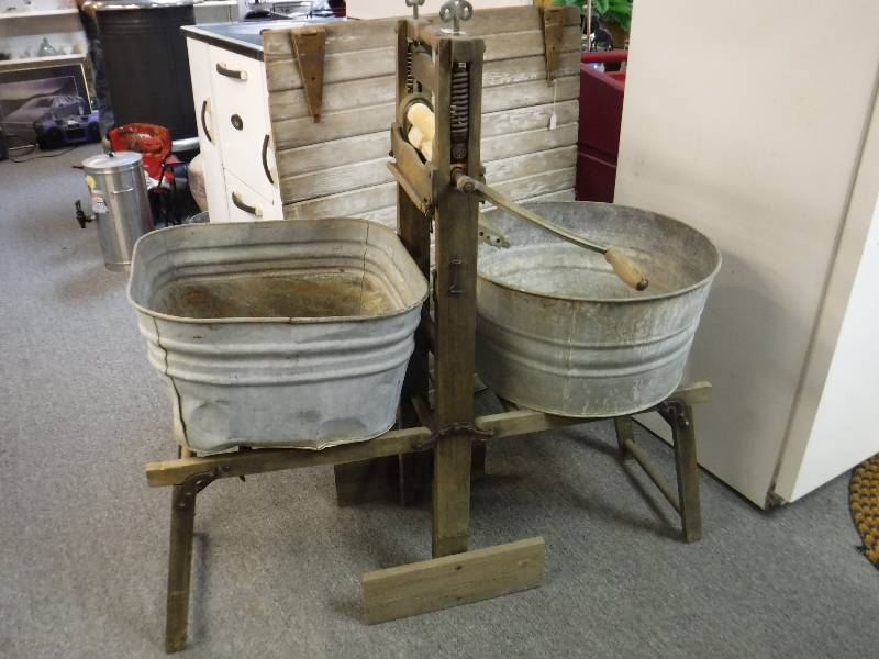 Antique Wash Tubs With Stand Rat Rod Antiques Collectibles Tools 5