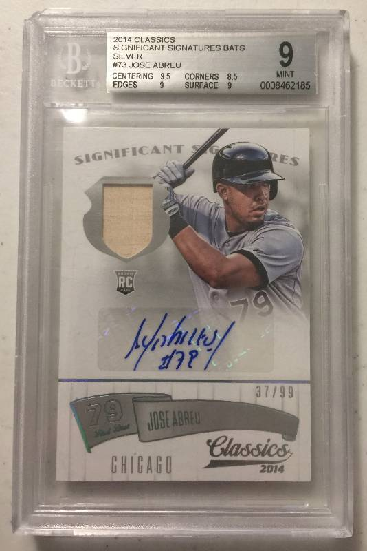Graded Bgs 9 2014 Classics Jose Abreu Autograph Game Used