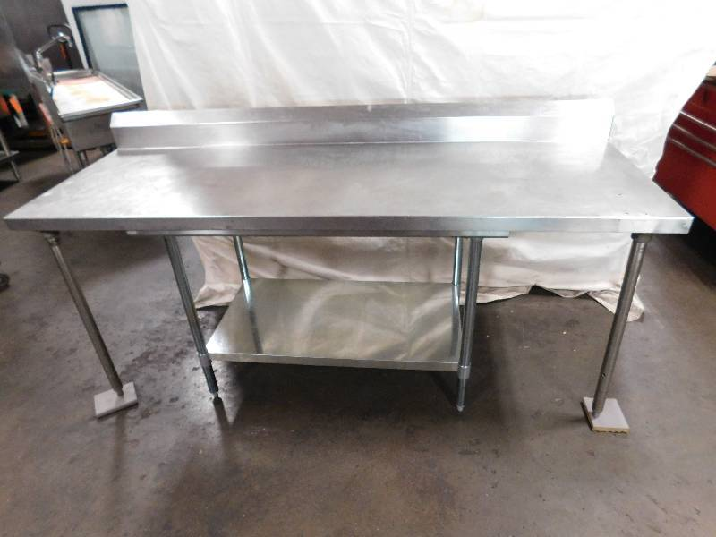 Foot Wall Mounted Stainless Steel Table Delaware Independence - 7 foot stainless steel table