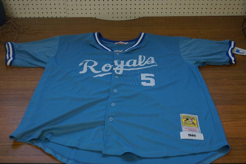 new style cf601 278bd Size 54- Kansas City Royals Sewn and Stitched 1985 Throwback ...