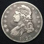1833 US 50 cent Capped Bust Silver Half Dollar - (185 Years Old!) - OLD - OLD - OLD - BID NOW!!!! 1833? NOW THAT'S OLD!!!!
