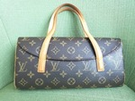 Louis Vuitton Sonatine Monogram Brown Canvas and Leather Shoulder Bag