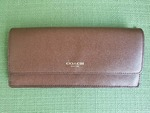 Coach Women's Brown Soft Leather Wallet